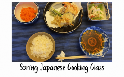 We Completed Our Spring Japanese Cooking Class!